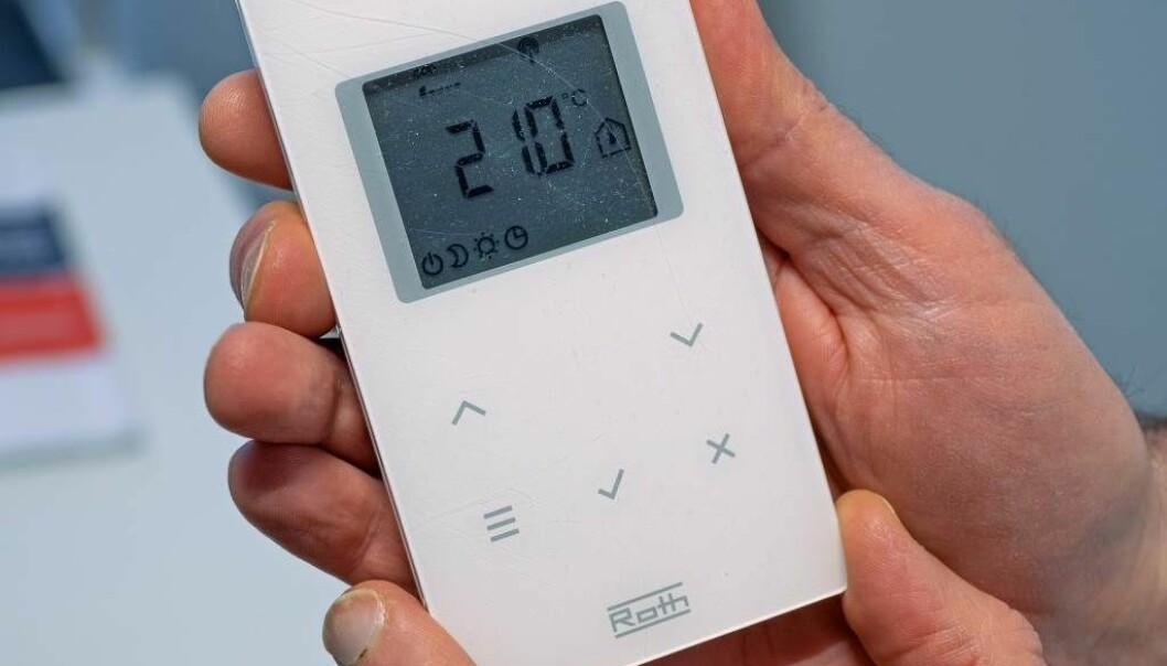 FROSTSIKRING: Brukerne setter ofte de trådløse termostatene på frostsikring, og dermed holder anlegget seg på 8 grader. Sjekk om det lille brytersymbolet, nederst til venstre på displayet, kommer opp – da må frostsikringen skrus av.