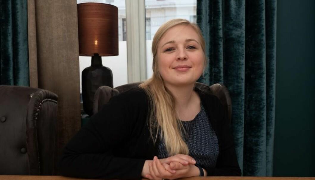 RYGGSEKKJOBB: Ing P Nome har stilige lokaler på Frogner i Oslo, men Hanna Risnes tar gjerne med seg ryggsekken og setter seg ute hos kunden.