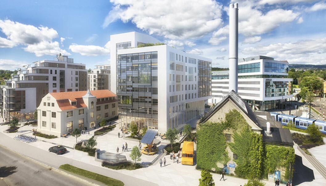 Møller Eiendom har et kontorbygg på Harbitz torg på Skøyen under oppføring i energiklasse A og i henhold til BREEAM «Excellent» Foto: nyebilder.no.