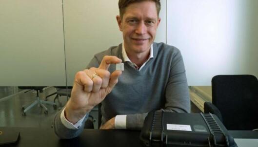 FRIMERKESTOR: Sensorene er små, men potensialet er stort, ifølge Ole Petter Novsett.