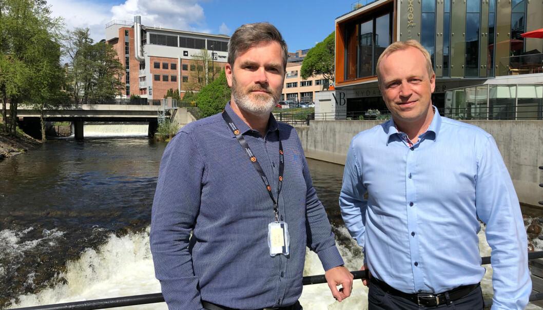 Tomas Bøhler Torsen og Olav Struksnes fra Erichsen & Horgen FOTO: Erichsen & Horgen