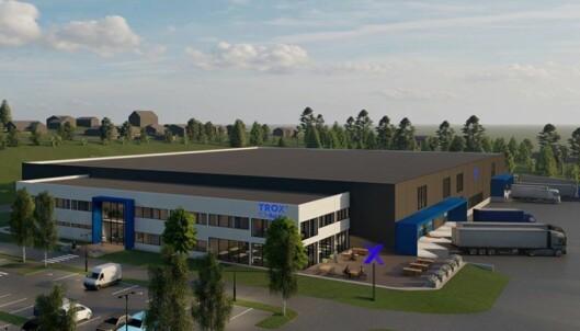 NY FABRIKK: INDUSTRIOMRÅDE: Den nye fabrikken skal også ligge i Gran kommune på Hadeland, rett ved riksvei 4.