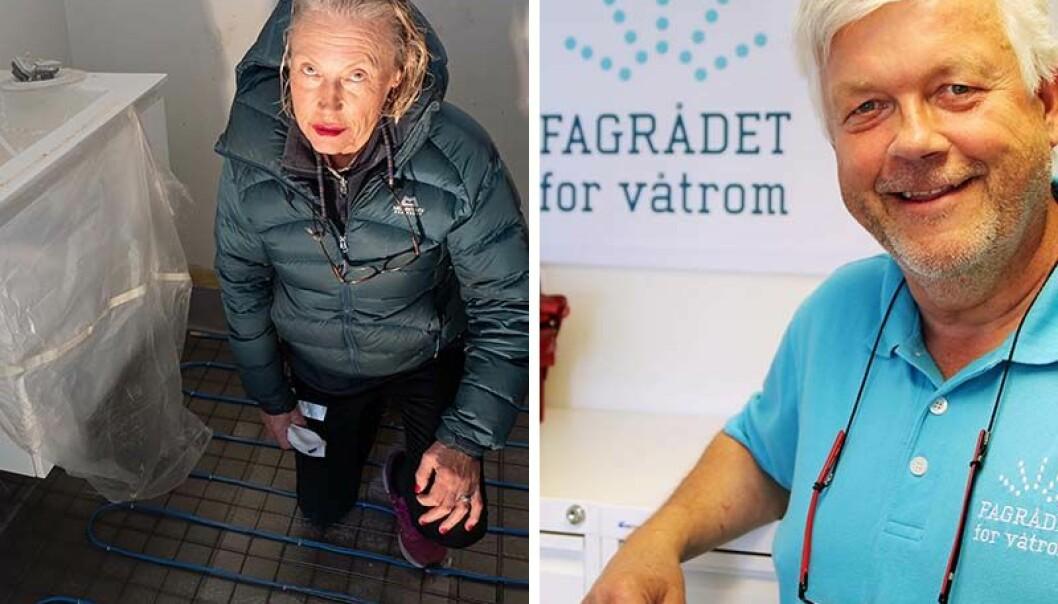 AVVISER: Daglig leder Cato Ove Karlsen i Fagrådet for våtrom forteller at Bygg & VVS Garanti, som gjorde arbeidene hjemme hos Reidun Knutsen, er godkjent etter Våtromsnormen som prosjekterende, men ikke som utførende.