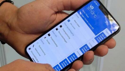 DOKUMENTERER: Appen sørger for dokumentasjon både til kunde og kontroll, og rett til både Cordel og Boligmappa. Foto: FASETT.