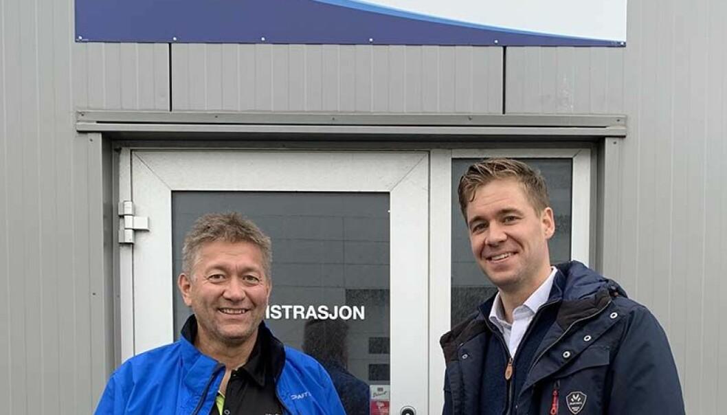 BLIR PARTNERE: Mikael Andersen, daglig leder Multi Kulde AS, og Martin Schjølberg, ansvar for markedsområdet kommersiell og klima i PTG. Foto: PTG.