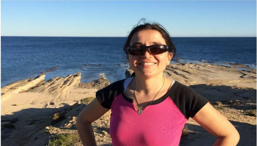 MIDDELHAVSKLIMA: Årets ferie har nettopp begynt for Natasa Nord – her er hun i solskinnsmodus i Alicante i fjor. FOTO: PRIVAT