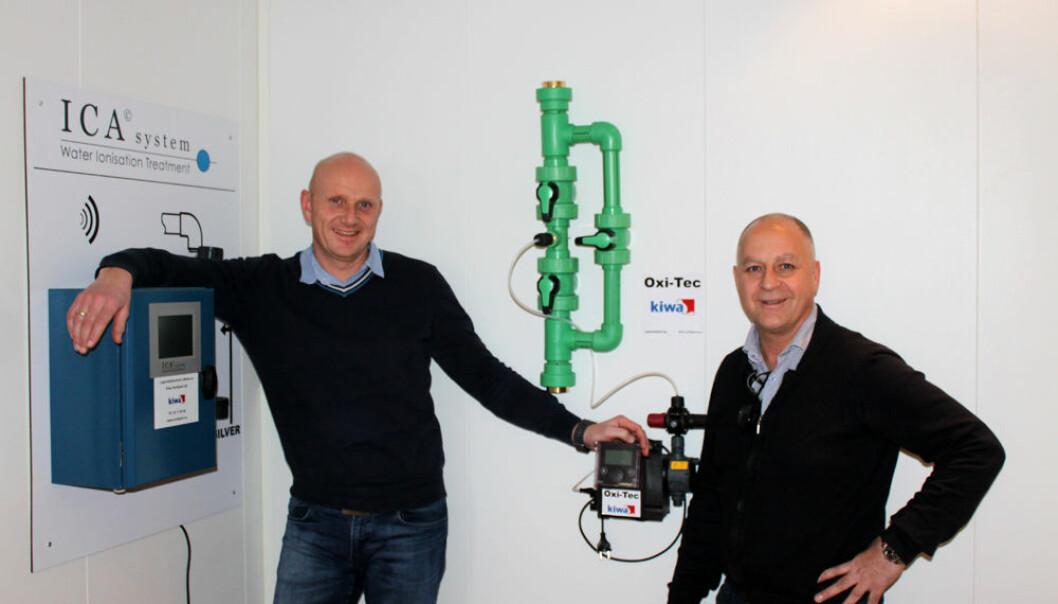 Salgssjef Pål Andersen (til høyre) og Kenneth Riisa, avdelingsleder Rådgivning og service