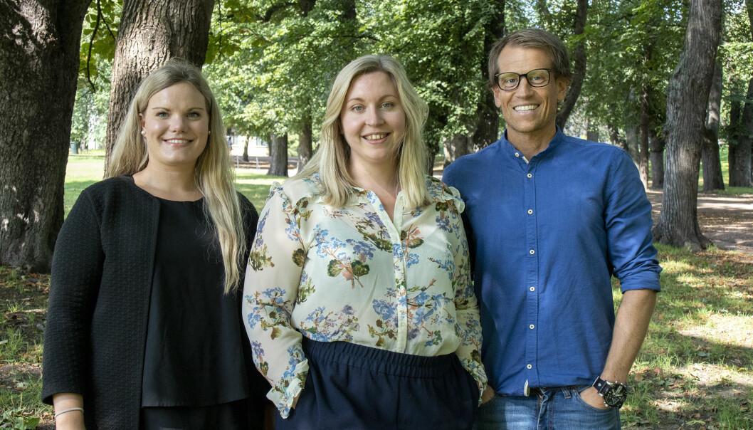 Fra venstre: Vera Victoria Hellem, Helene Stamnes og Thomas Øiestad.