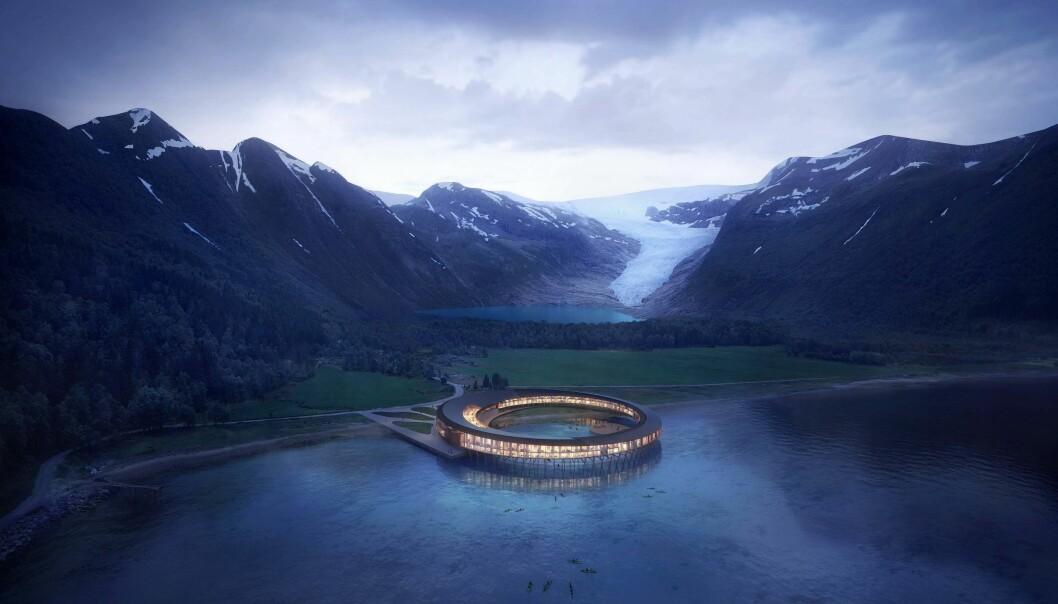 HELSVART: Svart blir verdens første energipositive hotellkonsept og skal produsere 60 prosent mer energi enn det bruker. ILLUSTRASJON: SNØHETTA