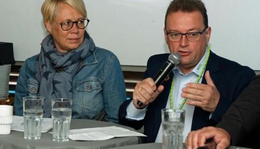 UENIGE: Nito-visepresident Kjetil Lein mener det er toppledelsen i kommunene som svikter. KS-direktør Anne-Cathrine Hjertaas protesterer og vil ha ledere med tverrfaglig kompetanse. En person som er flink, blir belønnet med å bli satt til ting han ikke kan! Rune Berg