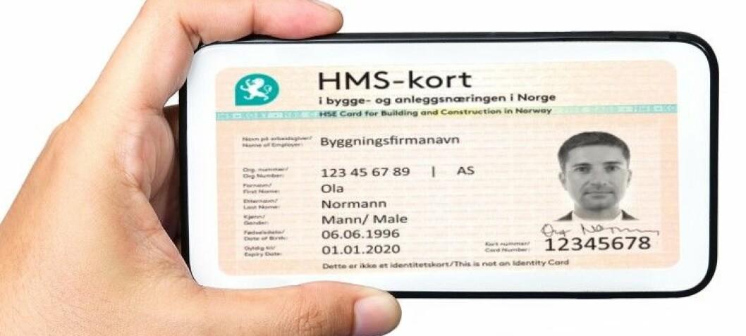HMS-kort på mobilen