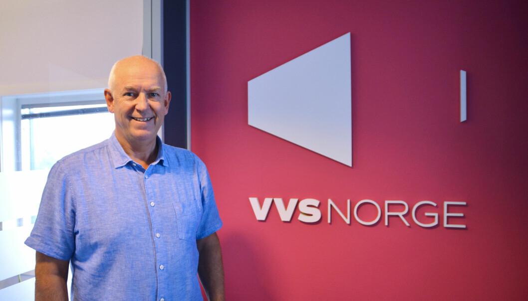 SAMMEN: Flere rørentreprenører må sammen i kjeder, spår Rolf Tveter, som også vil ha med rørleggerne og leverandørene som eiere i NRF-registeret. FOTO: VVS Norge