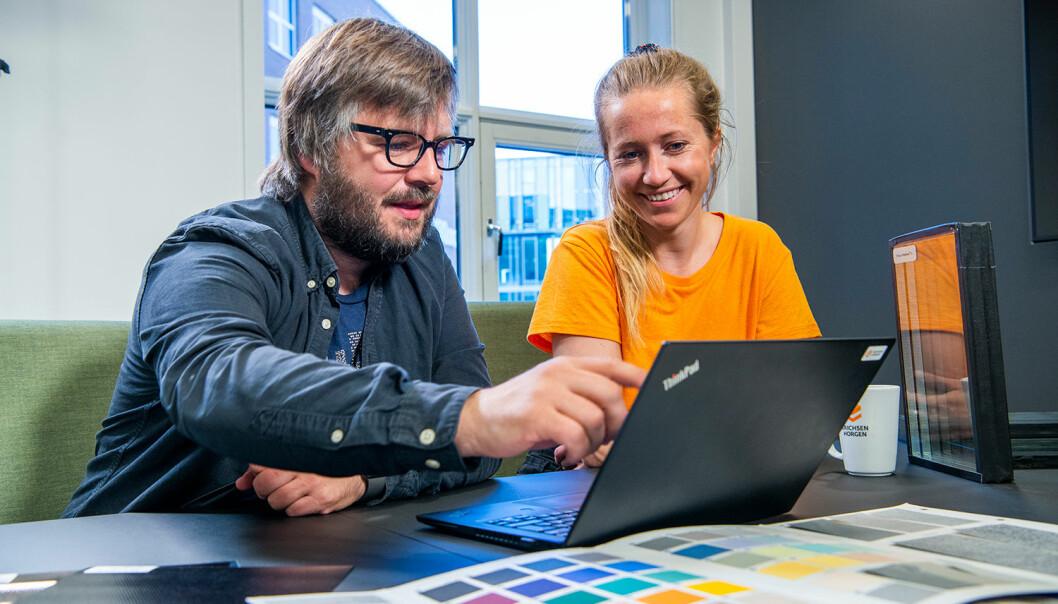 Arnkell J. Petersen (til venstre) går over i en ny rolle som leder for fagområdene tidligfase, solenergi, dagslys og fasader. FOTO: Erichsen & Horgen
