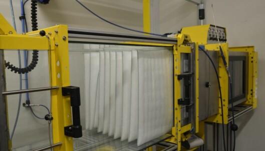 PÃ¥ Techcenteret i Trosa testes filtertypene opp mot ulike forhold og partikler.