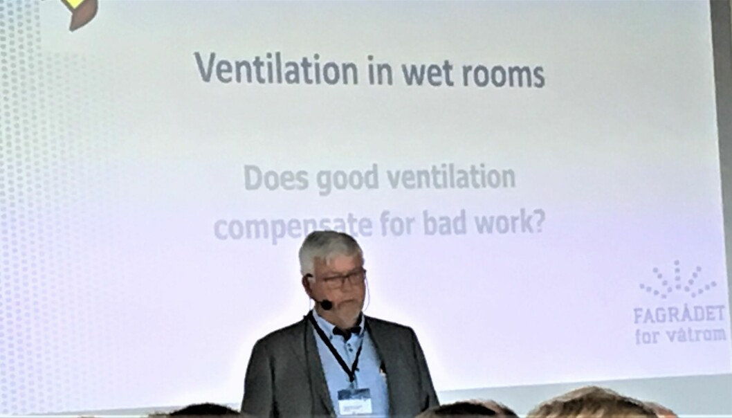 Cato Karlsen holdt et godt innlegg om ventilasjon i våtrom.