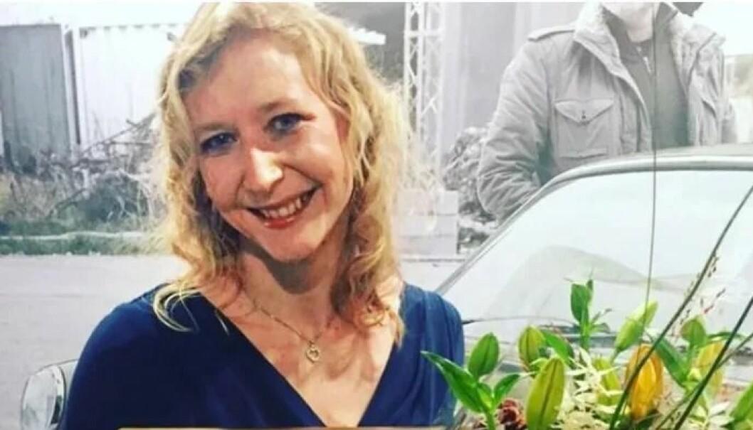 Rebecka Spånberg ved prisutdelingen for Årets Bedrifstleder 2019 i Ystad.