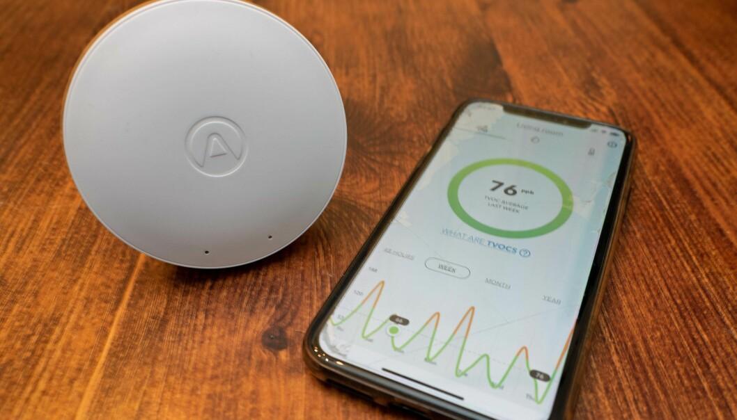 SENSORER: Airthings har flere forskjellige sensormodeller, beregnet på både privatkunden og byggdrifteren.