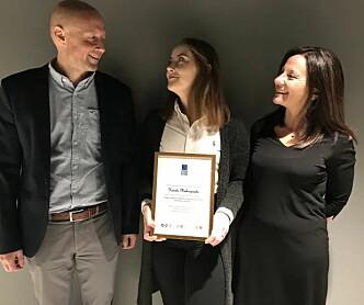 Prisen for årets Master innen vann- og miljøteknikk utdelt