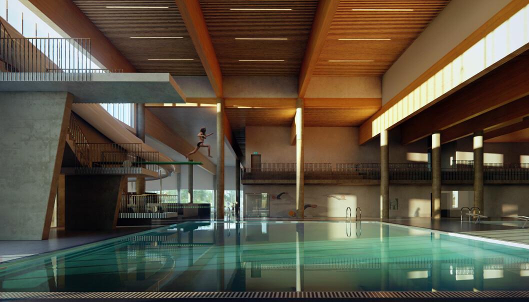 GÅR I PLUSS: Orkdal kommune er i gang med bygging av et klimapositivt folkehelsesenter.