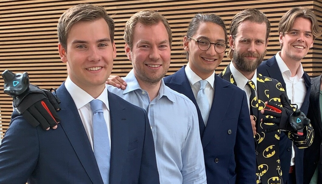F.v.: Haakon Fuhre Pettersen, Thomas Angeltveit (Norconsult), Moina Tamuly, Kristoffer Bugge (Norconsult), Håvard Pedersen Brandal