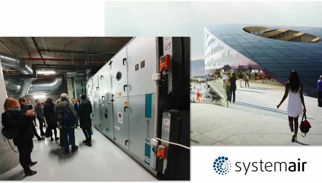 Systemair stiller på Solstrandkonferansen – har levert aggregatene til Powerhouse Brattørkaia.