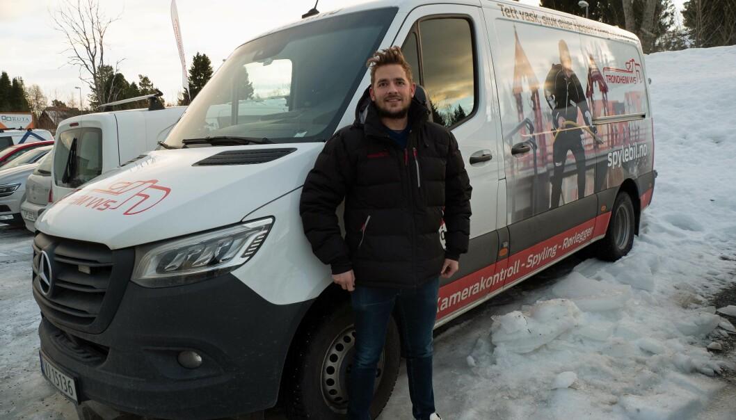 SPYLEBIL: Trondheim VVS har kjøpt det som sjefen omtaler som byens beste spylebil, komplett med attraktivt domenenavn.