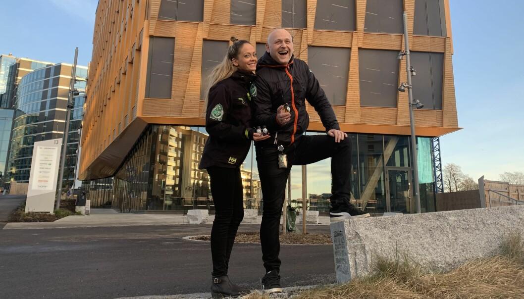 REKORDÅR: Olav Birknes og Kaja Foss Austnes i Eco-1 kan glede seg over rekordår, flere ansatte og nye lokaler.