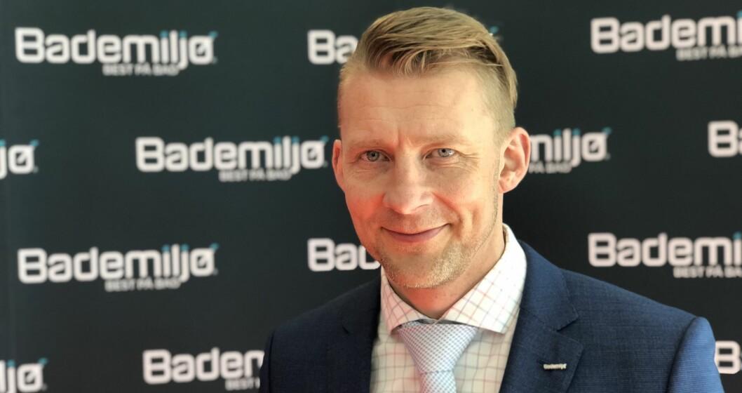 SAMLER KJEDEN PÅ VVS-DAGENE: Bademiljø-sjef Erlend Berg ser frem til flere lanseringer på VVS-dagene i oktober.