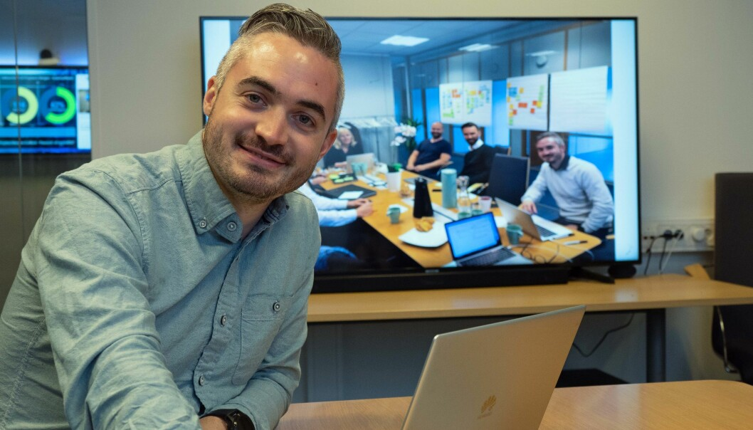 TEKNOSENTER: Tommy Hagenes samler hete selskaper som Airthings og Disruptive Technologies under samme tak og er på jakt etter flere som vil sitte sammen for å utvikle enda smartere bygg.