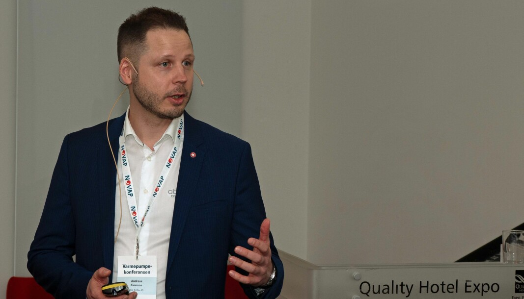 KVALITET: Varmepumpekundene er ikke opptatt av pris – det viktigste å fokusere på er kvalitet, fastslår Andreas Kvamme i ABK-Qviller.
