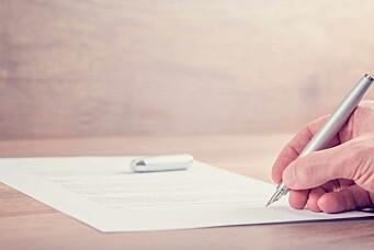 Kontrakt og avtaler