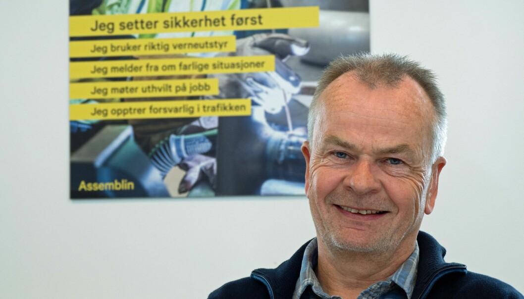 UTEN STANS: Foreløpig går alle prosjektene til Assemblin videre, men fraværet har økt kraftig, forteller Bengt Johnsen.