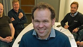 MØTESLUTT: Slik ser det ikke ut lenger hos Martin Rustan Aas. Her har han styret i Nemitek Vestfold og Telemark i ryggen. Men nå sitter han på hjemmekontor.