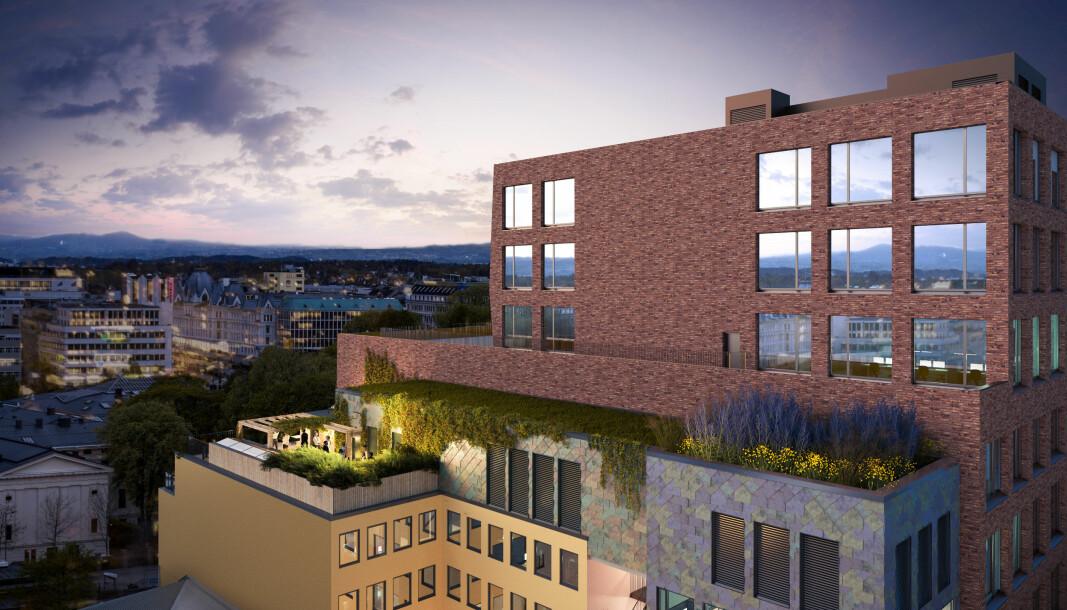 Kristian Augusts gate 13 i Oslo er et kontorbygg fra 1950-tallet i 8. etasjer. Nå skal det oppgraderes, med fokus på gjenbruk av materialer.