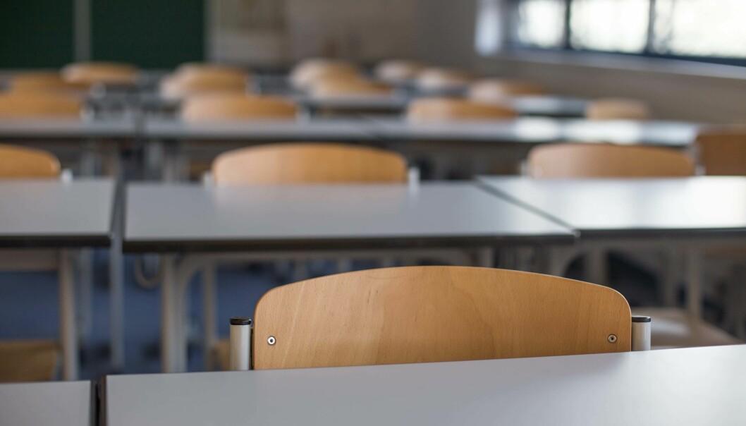 TOMME: Når skolene står tomme likevel, passer det godt å bruke tiden på bedre inneklima og læremiljø.