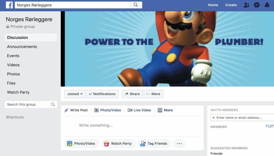 GAMLE RØR: Prat om alt fra gamle rør til forskjellige måter å løse en oppgave på er favorittene til mannen bak Facebook-gruppen.