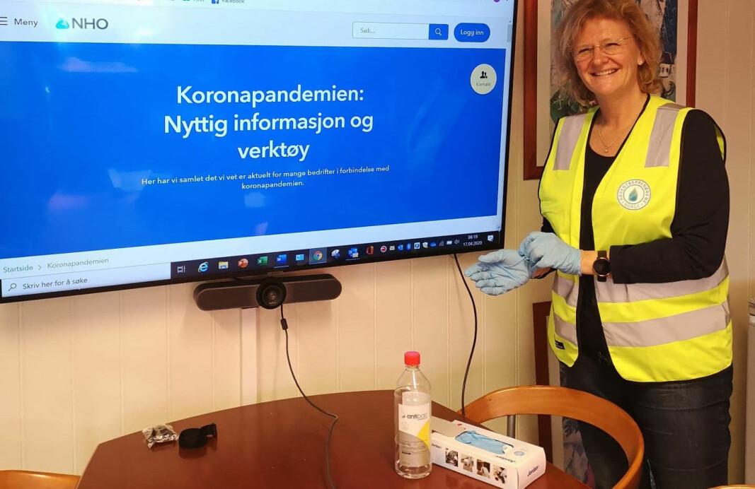 Avdelingsleder Elin Moer Brænne i Rørentreprenørene Norge - Vestfold opplever at rørbransjen i Vestfold kan fortsette omtrent som før, fordi de har vært gode på å gjennomføre effektive smitteverntiltak.
