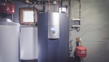 Teknisk rom med varmepumpen alpha Innotec