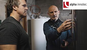 Kunde Daniel Holmberg med prosjektleder Bengt Are Eriksen fra Energiinovasjon