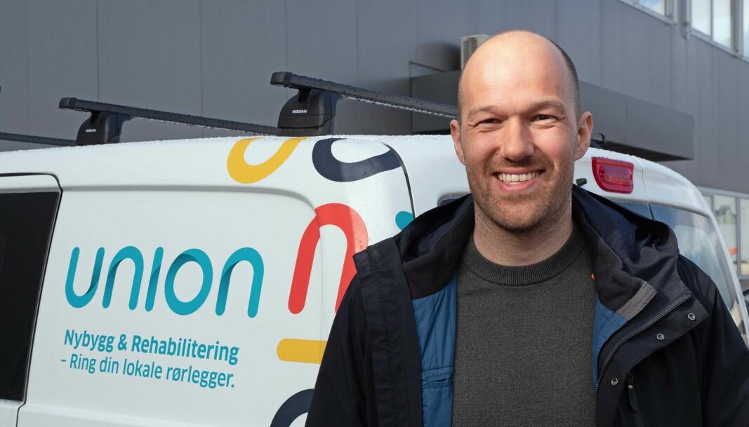 BYTTET BEITE: Adrian Benjamin Olsen er på plass som prosjektsjef i Union VVS.