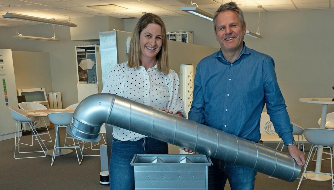 DEKLARERT: Nina Selboskar, Morten Danielsen og Ventistål er ute med miljødeklarasjon på de viktigste produktene sine.