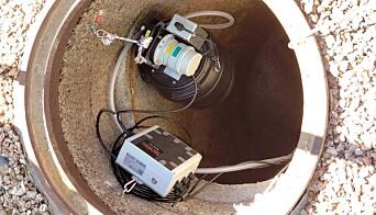 NETTSENSORER: Sensorer som sender data over nettet, montert i kummene, overvåker kloakken.