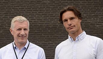 RÅDGIVENDE INGENIØRER: Geir Thomas Johansen (til venstre) og Alert Holtman vet mye om kjøling av datasentre og hvordan man skal bruke energien videre.