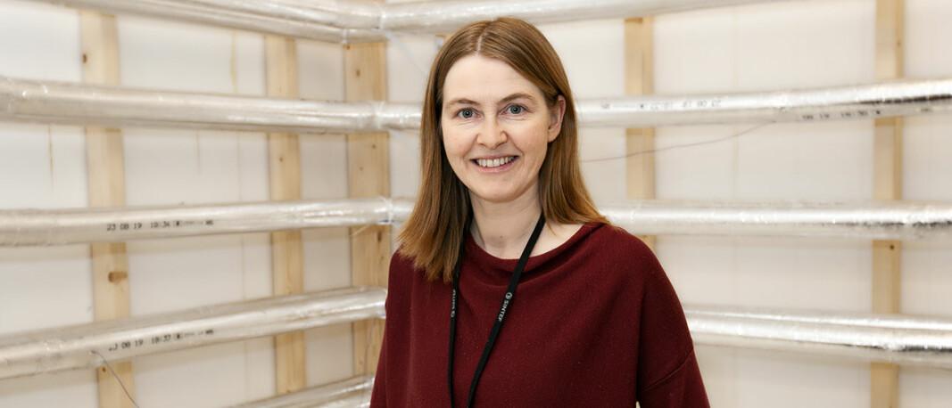 Forsker Åse Lekang Sørensen leder prosjektet VarmtVann2030, hvor SINTEF samarbeider med NTNU, fem byggeiere og fem produktleverandører