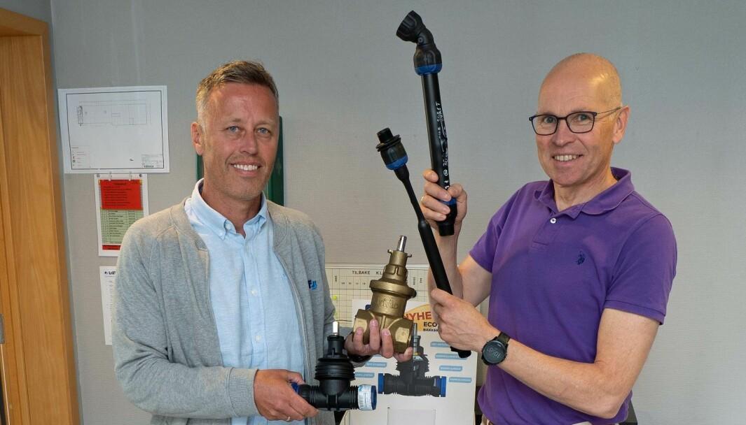 KOMPOSITT: Kjetil Bang Hagen (til venstre) og Lars Kristian Ølstad satser stort på nye ventiler.