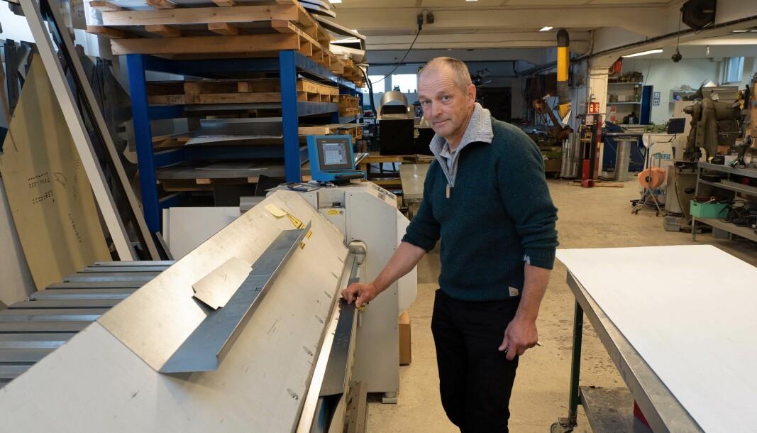 VERKSTED: Odd Arne Rønes bidrar både som ventilasjonsentreprenør og med blikkenslagerverksted.