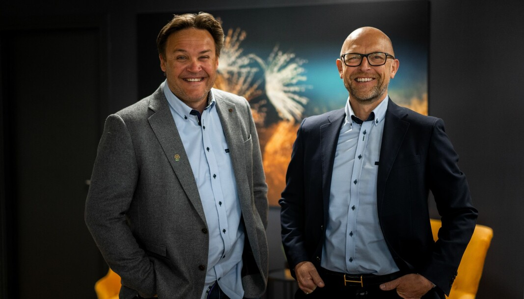 Frank Olsen, administrerende direktør i Rørkjøp og innkjøpsdirektør i Rørkjøp Jes Lyngsø Jessen, er fornøyd med resultatet samarbeidet med VVS Eksperten i VVS Norden har gitt av resultater.