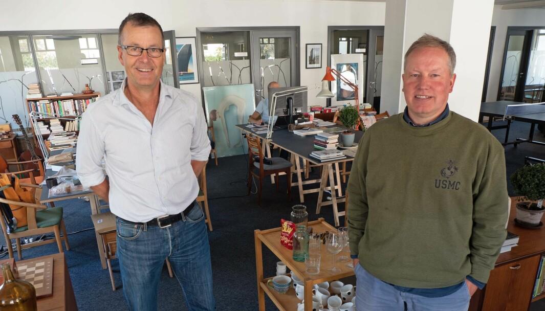 BÆREKRAFT: Det er ikke mye bærekraftig når folk med bunnsolid kompetanse ikke får jobb bare fordi de har navn som ikke høres norske ut, sier Per F. Jørgensen (til venstre) og Roar Smelhus.