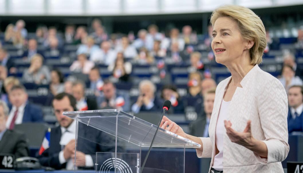 ÅRETS TALE: Talen om unionens tilstand tilsvarer den norske trontalen – den presenterer toppolitikernes planer for tiden som kommer. Ursula von der Leyen brukte den til å snakke om energi i bygninger.