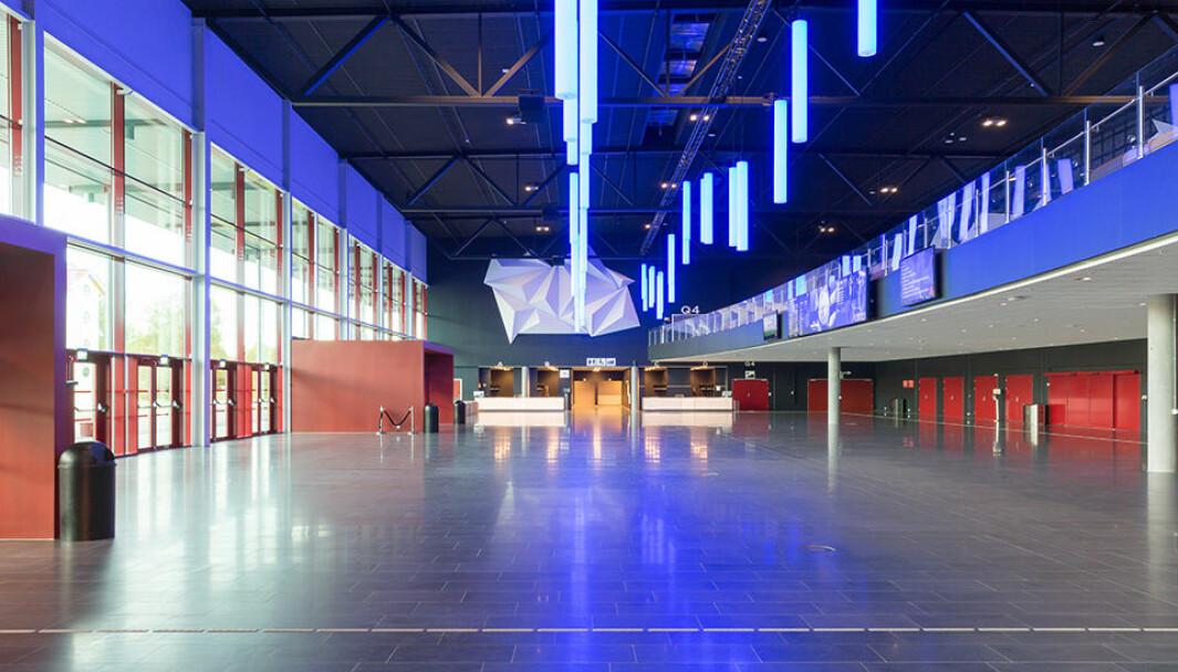 Utstillerhallen på Clarion Hotel & Congress Oslo Airport. Spente utstillere gleder seg til å møtes igjen på Driftskonferansen 2020.